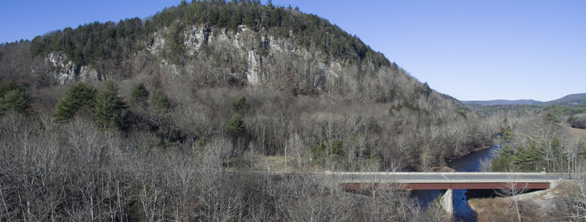 Arial view of Hanging Mountain.
