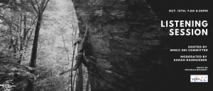 Female sport climber climbing at Mormon Hollow. Information for Listening Session: Thurs. Oct. 15th